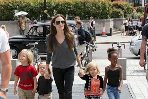 With a Manly Look, Shiloh Jolie-Pitt Attends The Maleficent Premiere