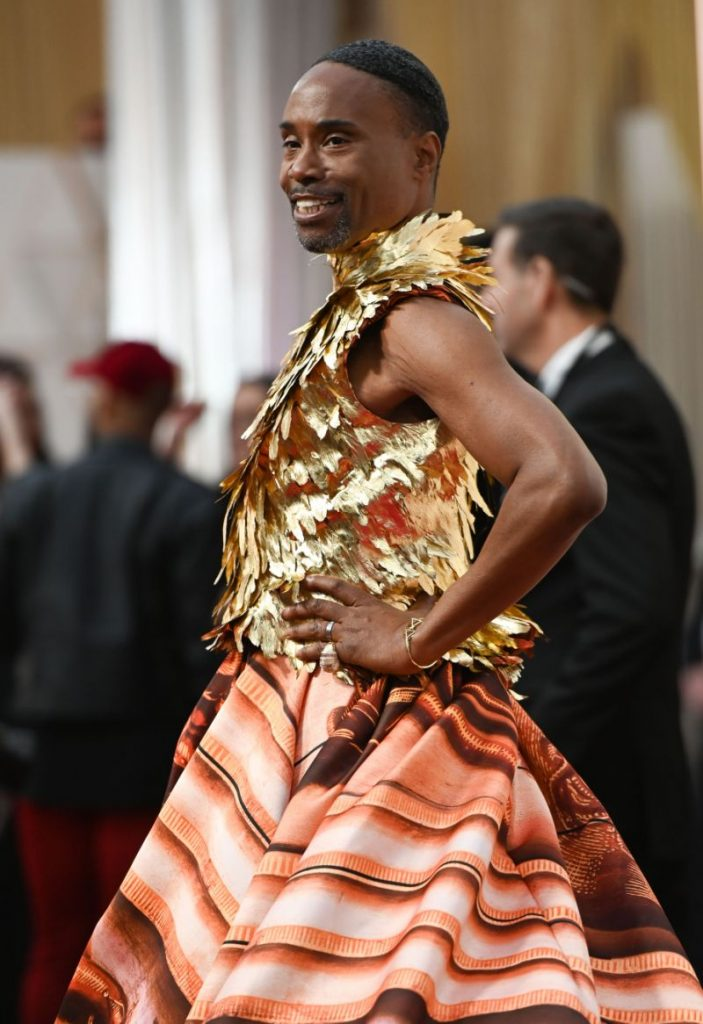Billy Porter eclipses the red carpet dress
