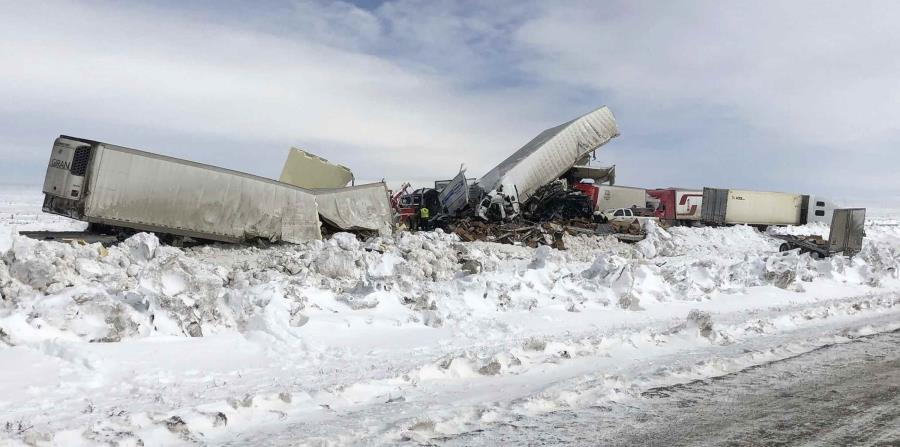 A crash of more than 100 vehicles leaves three dead in Wyoming