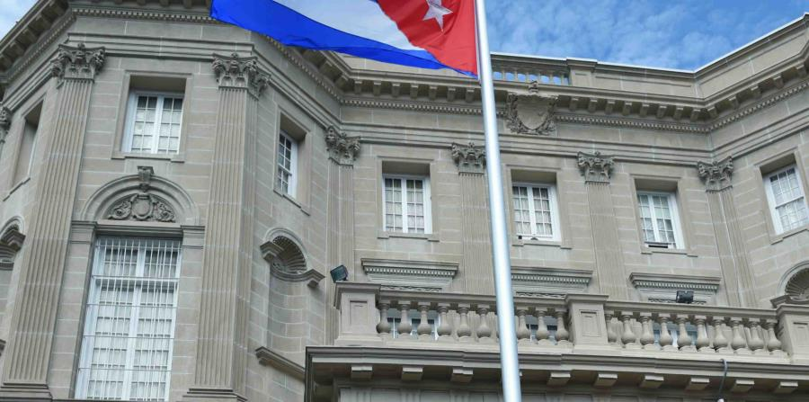 A subject shoots at the Cuban embassy in Washington D.C.