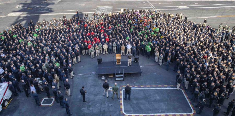 Secretary of the Navy apologizes for insulting the captain of the USS Theodore Roosevelt
