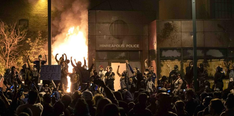 Police station burned in Minneapolis during protests over George Floyd's death