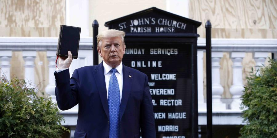 """Episcopal bishop of Washington diocese expresses """"outrage"""" over Trump's visit to church"""