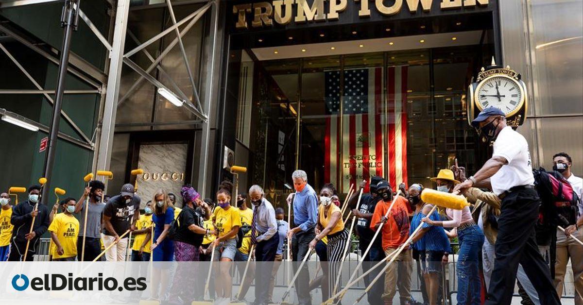 New York Mayor Paints Black Lives Matter Slogan At Trump Tower Gates