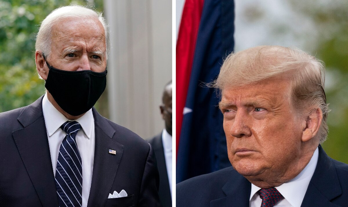 The differences in style of Joe Biden and Donald Trump clearly emerge in the commemoration of September 11