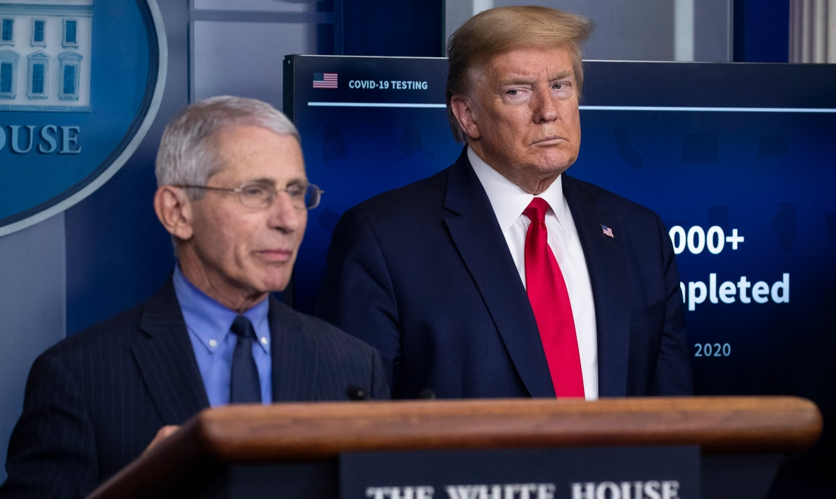 """Donald Trump lashes out at Dr. Anthony Fauci, describing him as """"a disaster"""""""