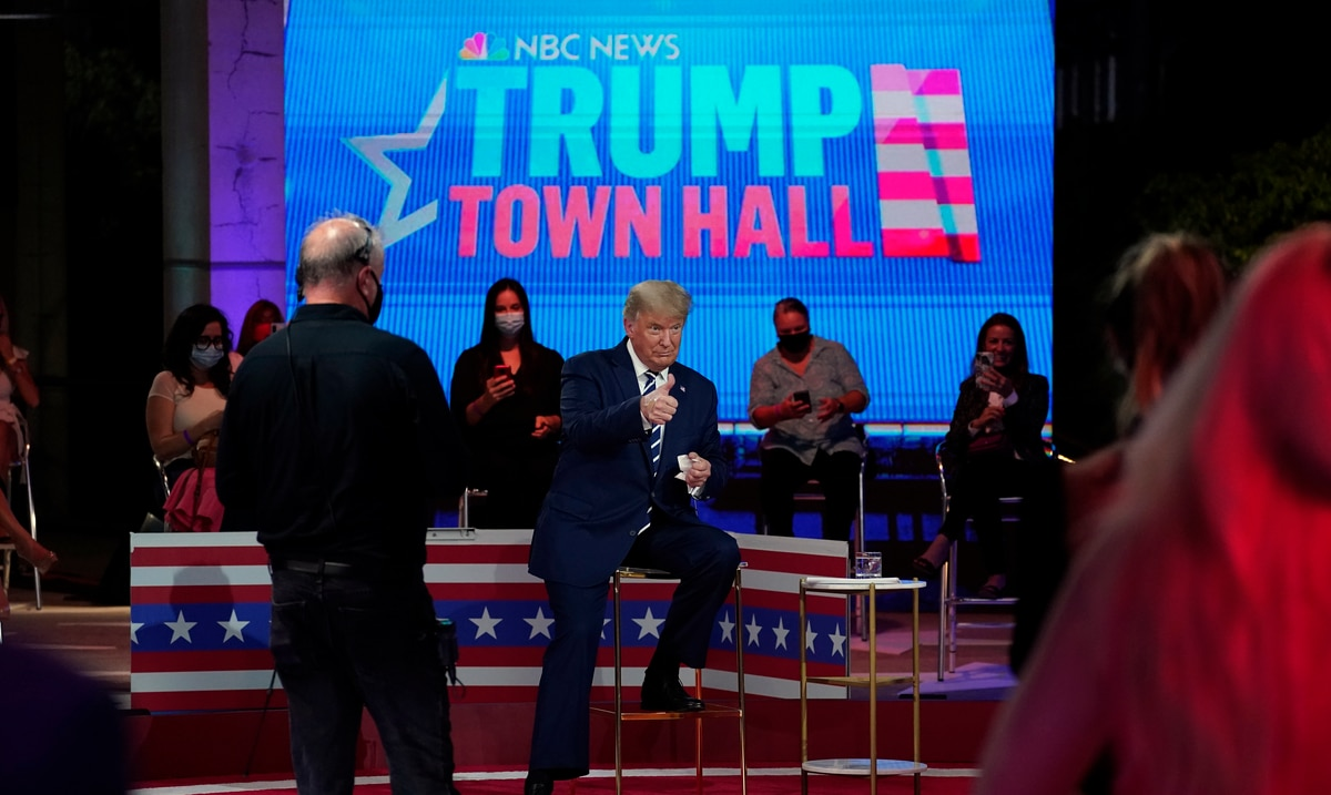 Donald Trump looks evasive and Joe Biden erratic at respective events