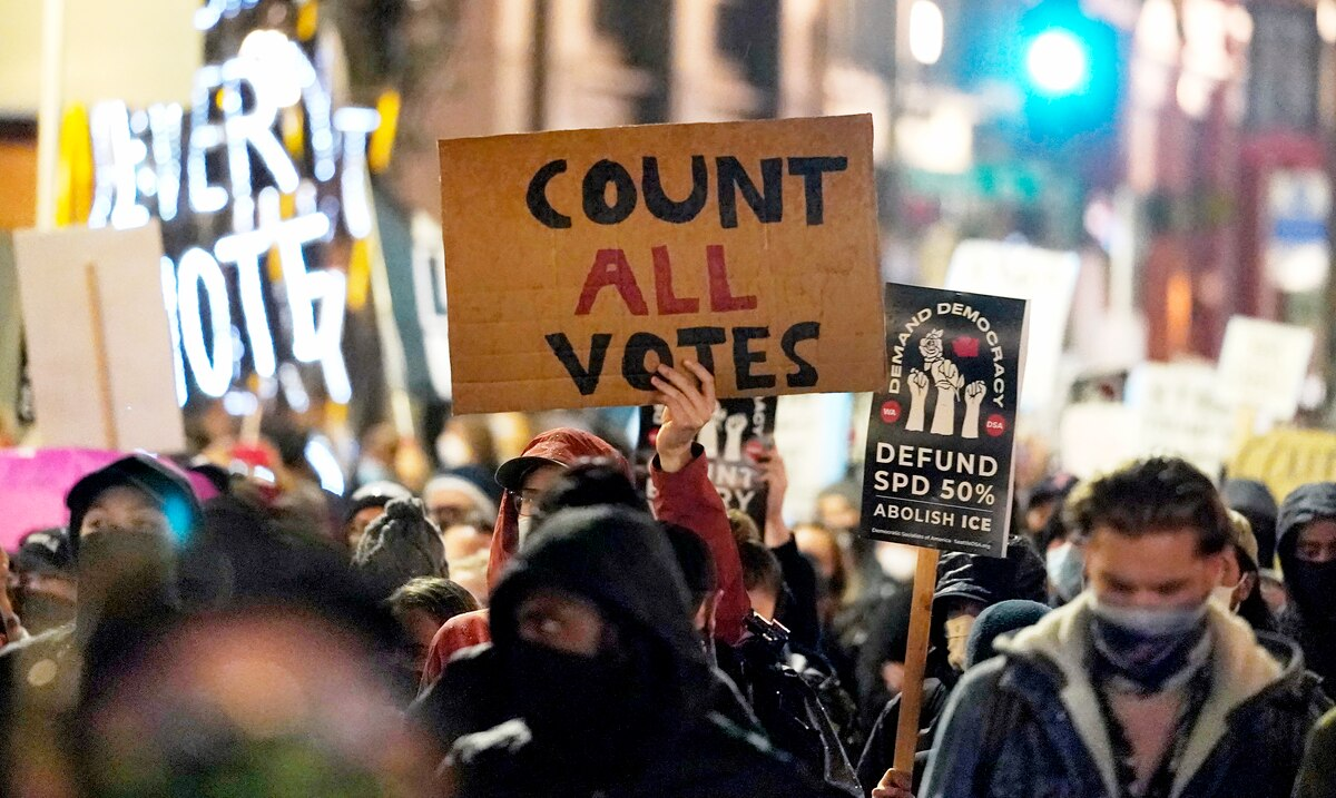 Dozens of arrests in protests after election in the United States