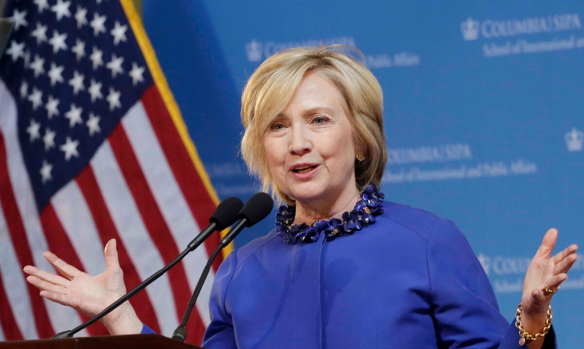 """Hillary Clinton celebrates that the United States has finally """"repudiated"""" Donald Trump"""