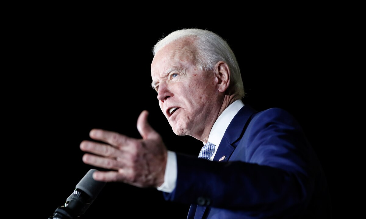Biden says he's not afraid to swear in his office outdoors