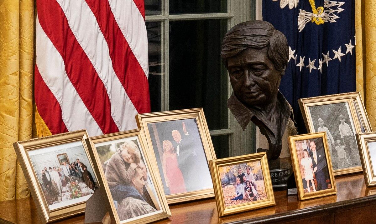 Joe Biden has in his office a sculpture of the union leader César Chávez