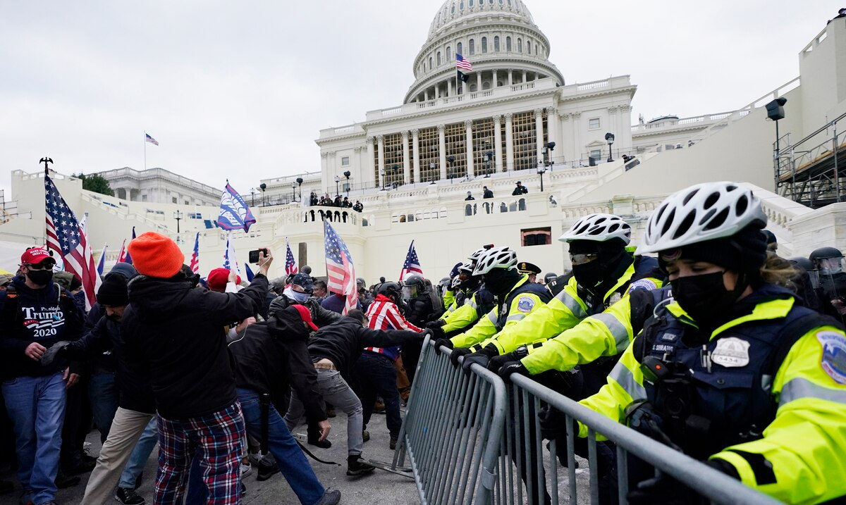 LIVE: Donald Trump supporters forcibly enter Capitol Hill and Electoral College vote counting stops