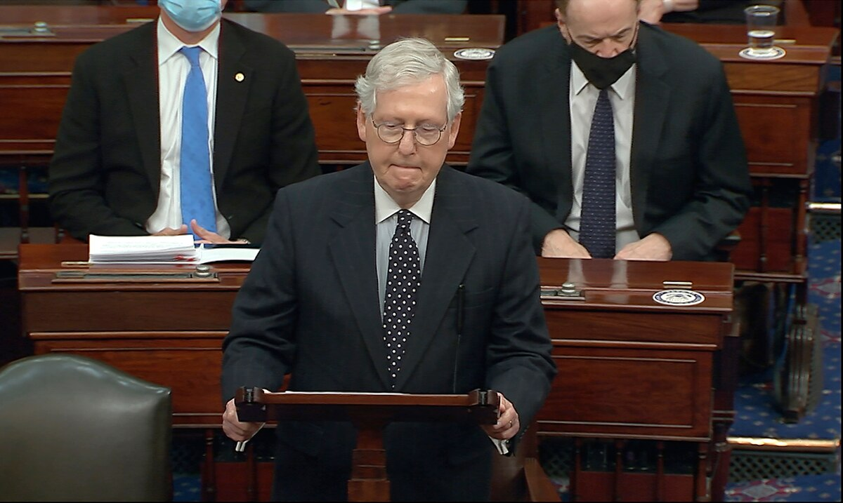 Mitch McConnell For The First Time Publicly Holds Donald Trump Responsible For Inciting The Mob That Attacked Congress