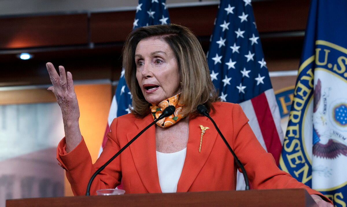 Nancy Pelosi calls for the 25th Amendment to the Constitution to be invoked to impeach Donald Trump