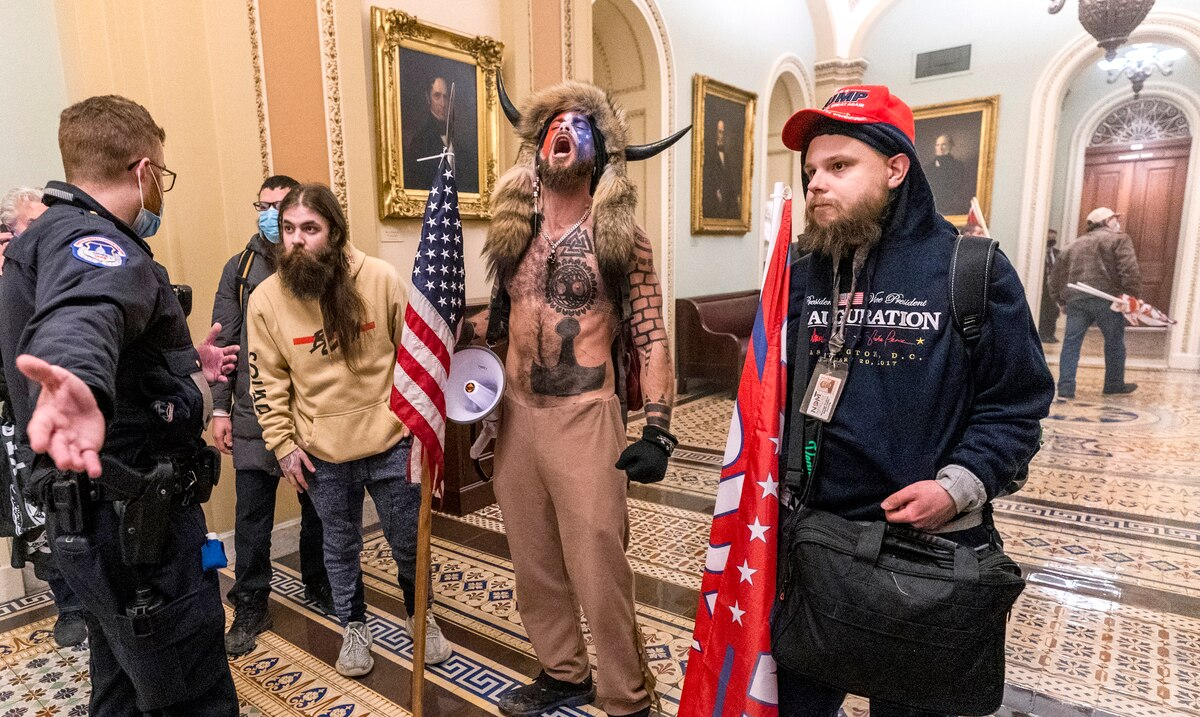 Man disguised as a bison during the insurrection in the Capitol expresses regret