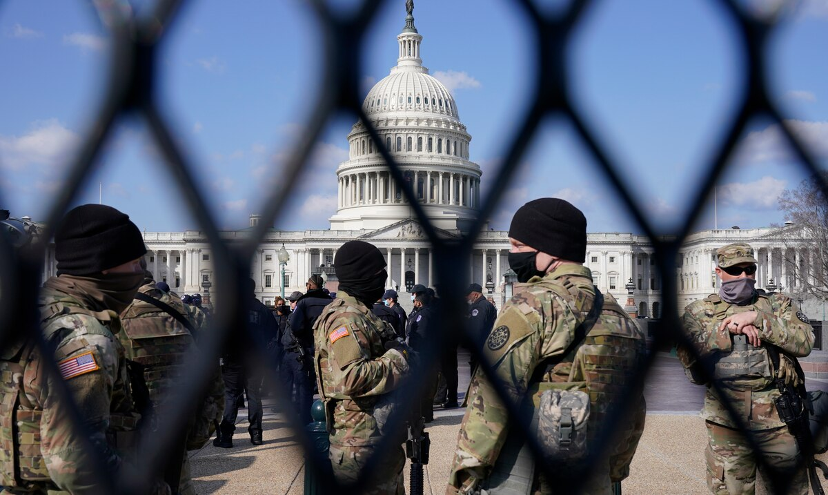 Authorities remain on high alert for the possibility of another assault on the federal Capitol