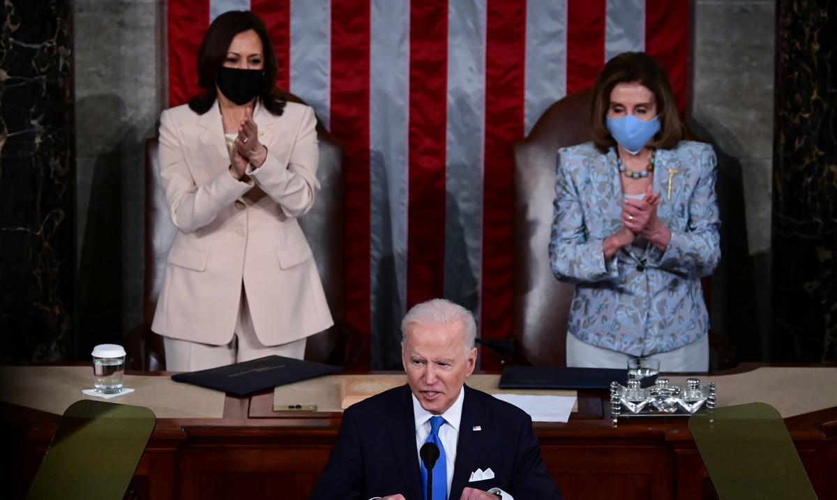 Joe Biden, Kamala Harris, and Nancy Pelosi, why did they make history during the first message from the president?