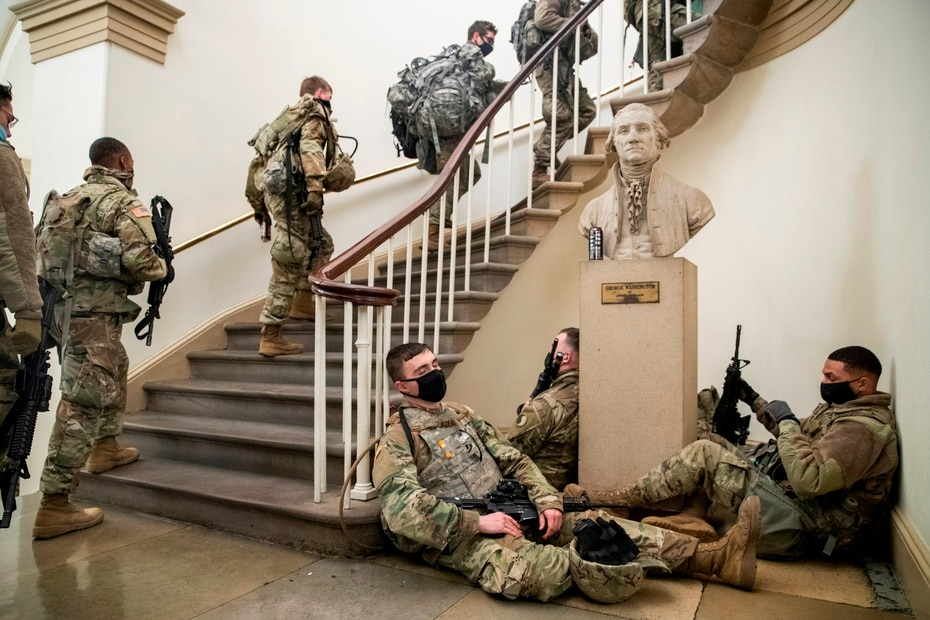 The Pentagon estimates that the number of National Guard troops assigned to reinforce security in the US capital is close to 30,000.