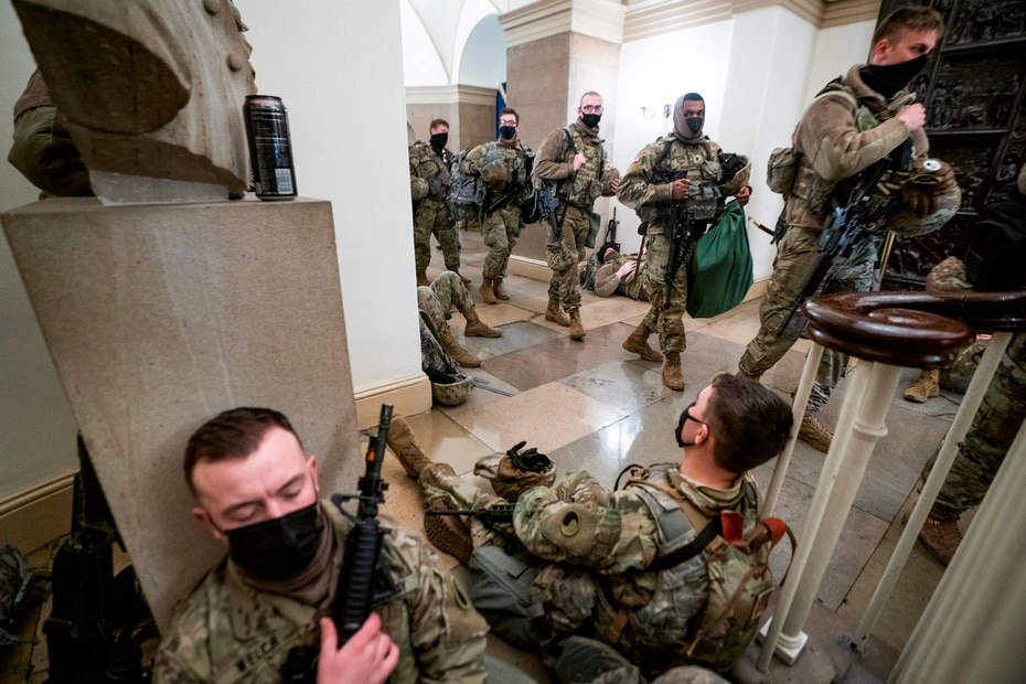 Washington authorities have been forced to call in units from the Maryland and Virginia National Guard, neighboring states, as well as a rapid reaction force specialized in riots.