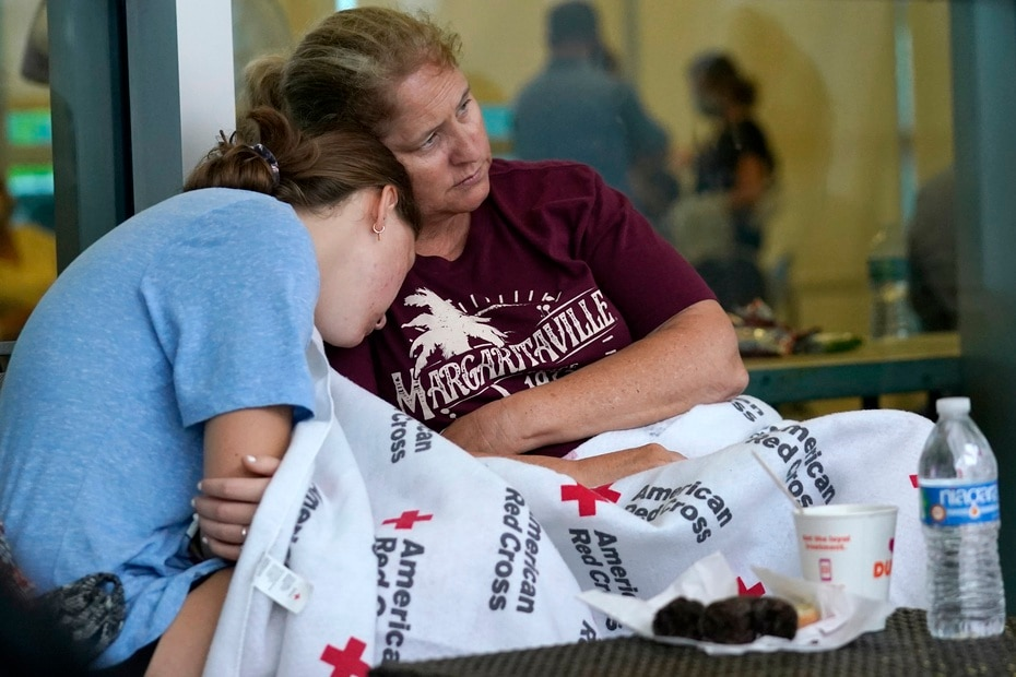 Jennifer Carr and her daughter survived the building collapse.
