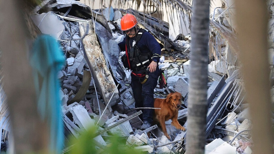 The Champlain Towers South condo partially collapsed around 1:30 a.m. Thursday.  Since then, dozens of rescuers have searched the rubble for people.