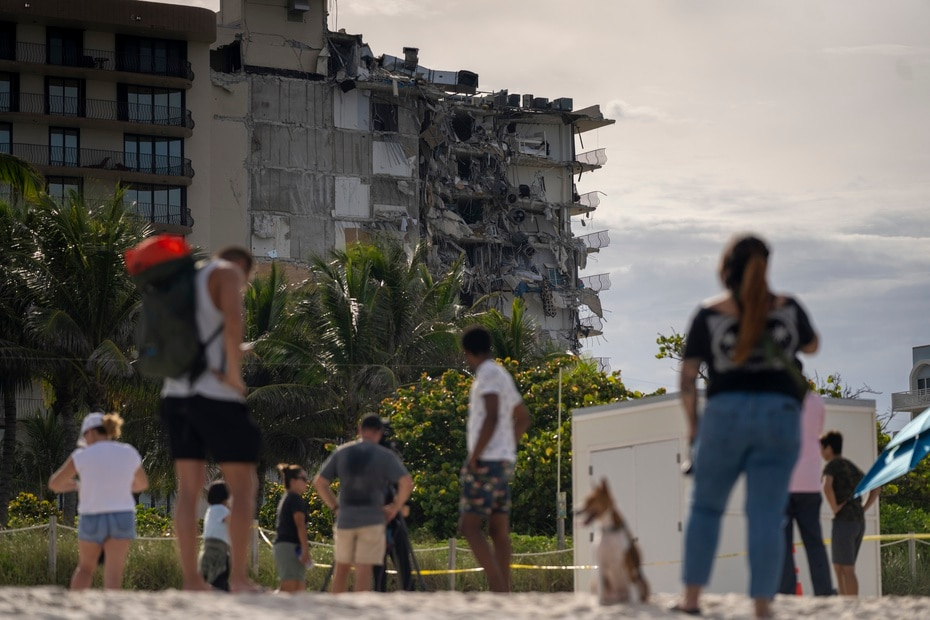 Although it did not fully collapse, the end of the condominium that did not collapse was structurally compromised, so it will not be habitable.