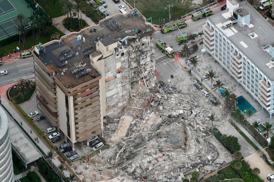 The building partially collapsed during the early morning of June 24, 2021.