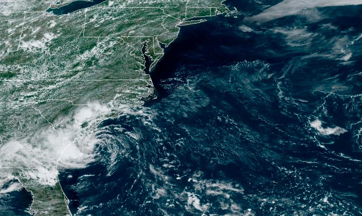 Tropical Storm Danny makes landfall off the South Carolina coast
