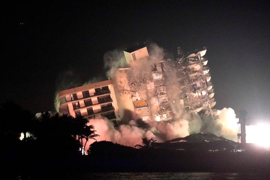 The decision to demolish the Surfside building was made after concerns grew that the damaged structure was at risk of collapsing.