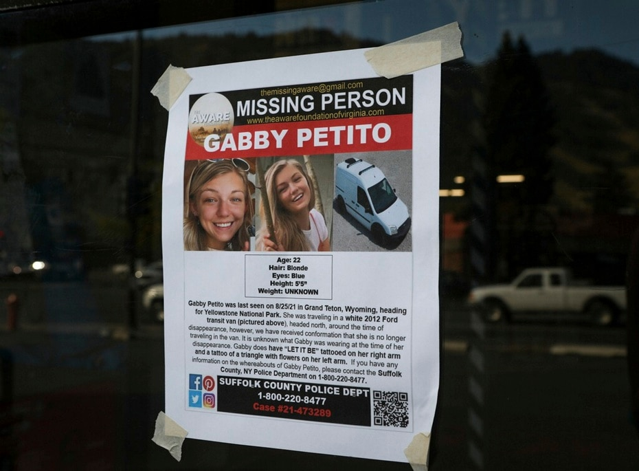 Petito's family reported her missing on September 11, after losing communication with her since August 30, when she texted them: